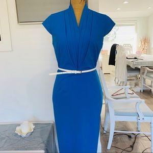 Calvin Klein - Blue Dress & White Belt